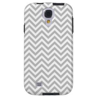 Gray and White Zigzag Stripes Chevron Pattern Galaxy S4 Case