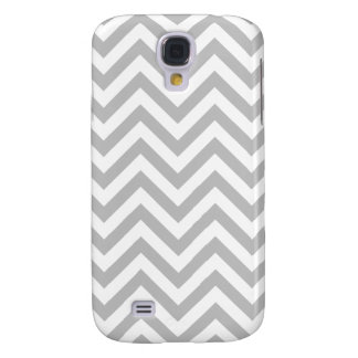 Gray and White Zigzag Stripes Chevron Pattern Galaxy S4 Cases