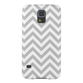 Gray and White Zigzag Stripes Chevron Pattern Galaxy S5 Case