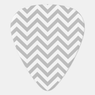 Gray and White Zigzag Stripes Chevron Pattern Guitar Pick