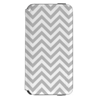 Gray and White Zigzag Stripes Chevron Pattern Incipio Watson™ iPhone 6 Wallet Case