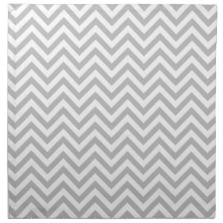 Gray and White Zigzag Stripes Chevron Pattern Napkin