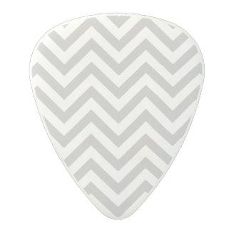 Gray and White Zigzag Stripes Chevron Pattern Polycarbonate Guitar Pick