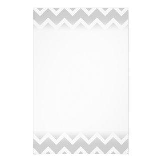 Gray and White Zigzag Stripes. 14 Cm X 21.5 Cm Flyer
