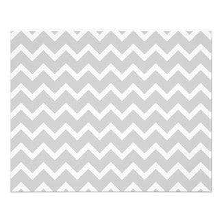 Gray and White Zigzag Stripes. 11.5 Cm X 14 Cm Flyer