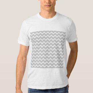 Gray and White Zigzag Stripes. T-shirts