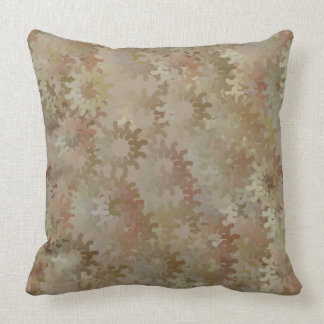 Gray and Yellow Gears Pillow