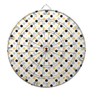 Gray and Yellow Polka Dots Dart Boards