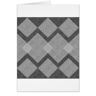 gray argyle card
