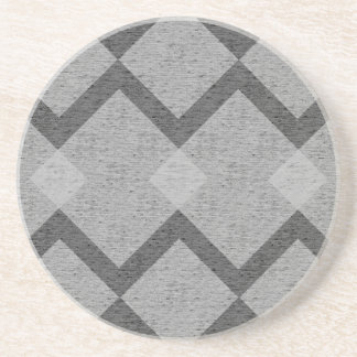 gray argyle coaster