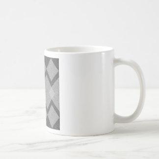 gray argyle coffee mug