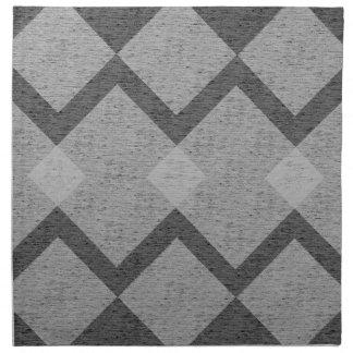 gray argyle napkin