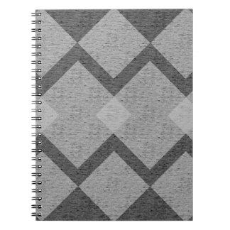 gray argyle notebook