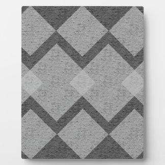 gray argyle plaque