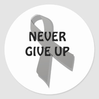 gray awareness ribbon classic round sticker