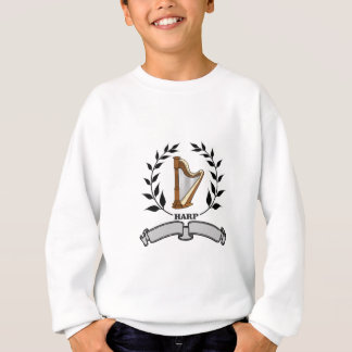 gray banner harp sweatshirt