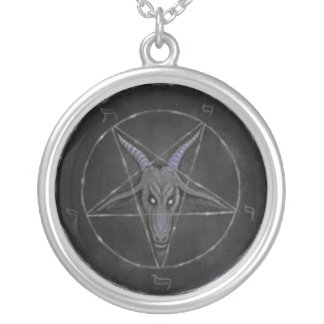 Gray Baphomet Sterling Silver Necklace