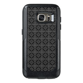 Gray Baroque Pattern on Black OtterBox Samsung Galaxy S7 Case