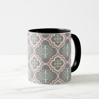 Gray Baroque Royal Damask Mug