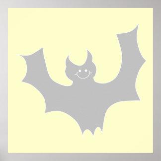 Gray Bat Cartoon Posters