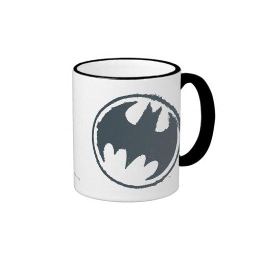 Gray Batman Logo Mug