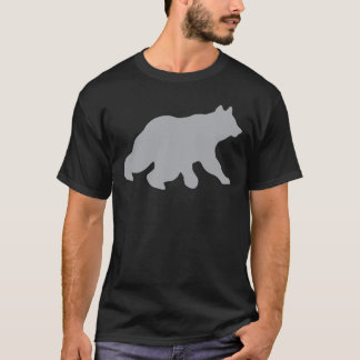 Gray Bear Crossing Tracks Hunting Wild Life Yogi T-Shirt
