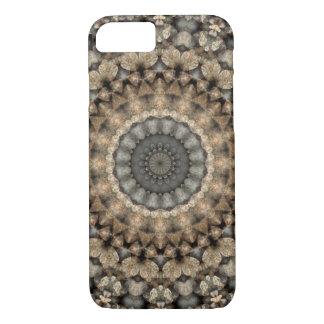 Gray & Beige Pebbles Mandala Kaleidoscope iPhone 8/7 Case