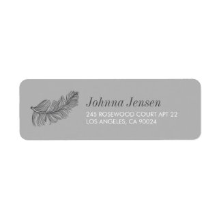 Gray Birds of a Feather Return Address Return Address Label