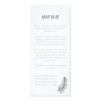 Gray Birds of a Feather Stylish Menu 10 Cm X 24 Cm Invitation Card