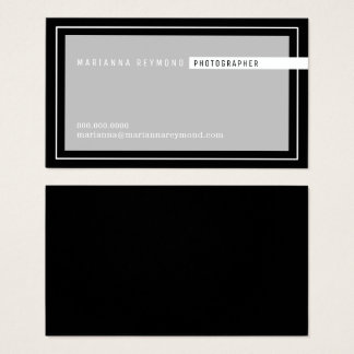 gray/black basic modern, photographer business card