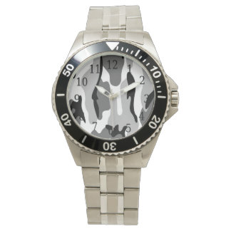 Gray & Black Camouflage Watch