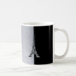 Gray Black Eiffel Tower Coffee Mug