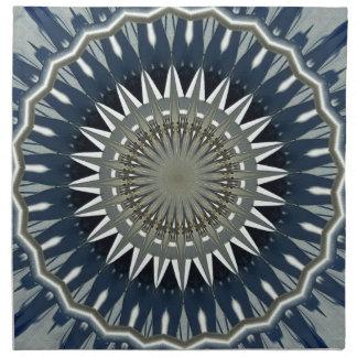 Gray Black Geometric Mandala Napkin