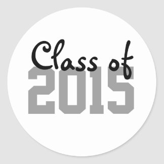 Gray Black Graduation Year Envelope Seal Stickers