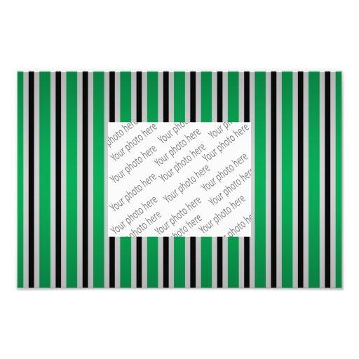 Gray black green stripes photo