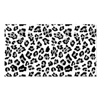 Gray Black Leopard Animal Print Pattern Business Card