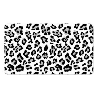 Gray Black Leopard Animal Print Pattern Business Cards