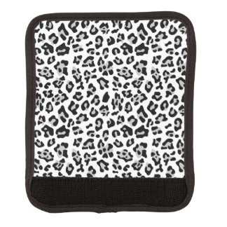 Gray Black Leopard Animal Print PatternGray, black Luggage Handle Wrap