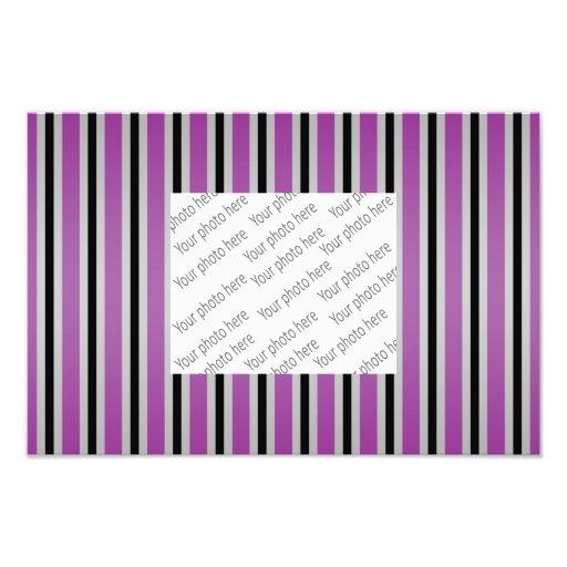 Gray black purple stripes photo art