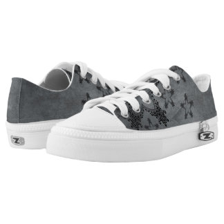 Gray/Black Stars Zipz Women's Shoes