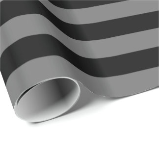 Gray/Black Stripe Wrapping Paper