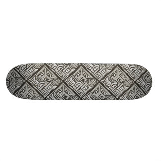 Gray Black Textural Geometric-Abstract Pattern 21.6 Cm Skateboard Deck