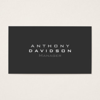 Gray Black White Stylish Modern Professional Business Card