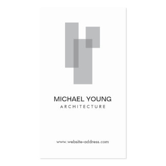 GRAY BLOCKS LOGO for Architects, Builders, Design Pack Of Standard Business Cards