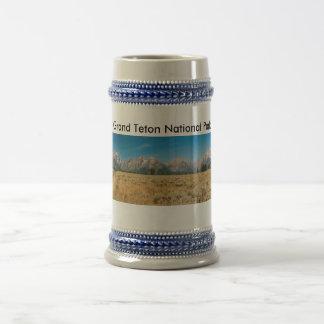 Gray/Blue 22 oz Stein Teton Park Beer Steins
