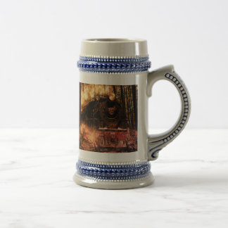 Gray/Blue 22 oz Stein Train in The Forest