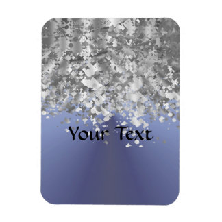 Gray blue and faux glitter magnets