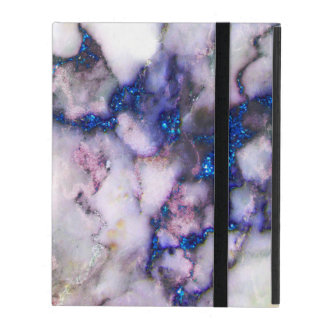Gray Blue And Pink Marble Stone iPad Folio Case