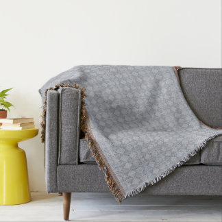 Gray Blue for You Throw Blanket