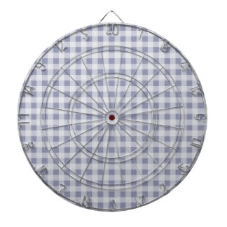 Gray-Blue Gingham; Checkered Dart Boards